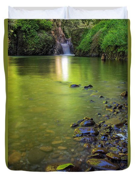 Enchanted Gorge Reflection Duvet Cover by David Gn