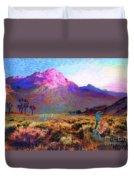 Enchanted Kokopelli Dawn Duvet Cover