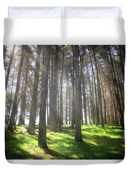Duvet Cover featuring the photograph Enchanted by Laurie Search