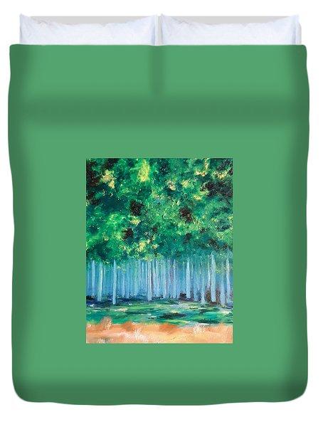 Enchanted Poplars Duvet Cover