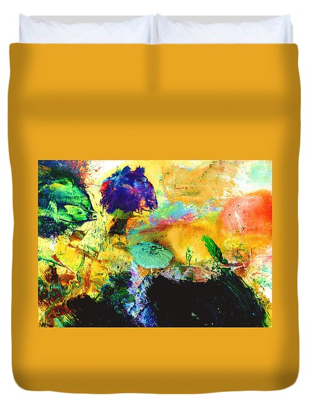 Enchanted Reef #306 Duvet Cover by Donald k Hall