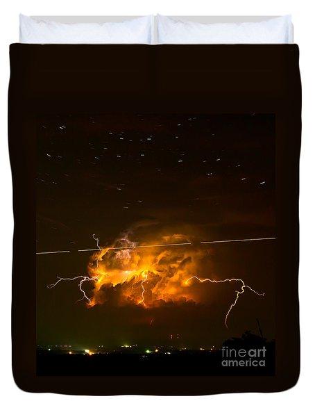 Enchanted Rock Lightning Duvet Cover
