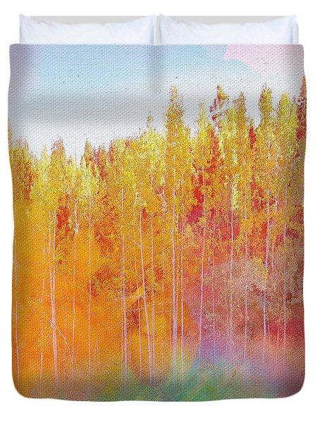 Duvet Cover featuring the digital art Enchanted Scenery #3 by Klara Acel