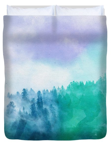 Duvet Cover featuring the photograph Enchanted Scenery by Klara Acel