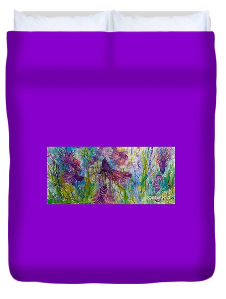Enchanted Sealife Party Duvet Cover