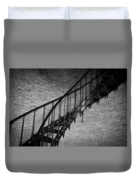 Duvet Cover featuring the photograph Enchanted Staircase II - Currituck Lighthouse by David Sutton