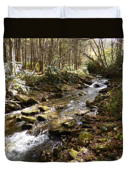 Enchanted Stream - October 2015 Duvet Cover by Joel Deutsch