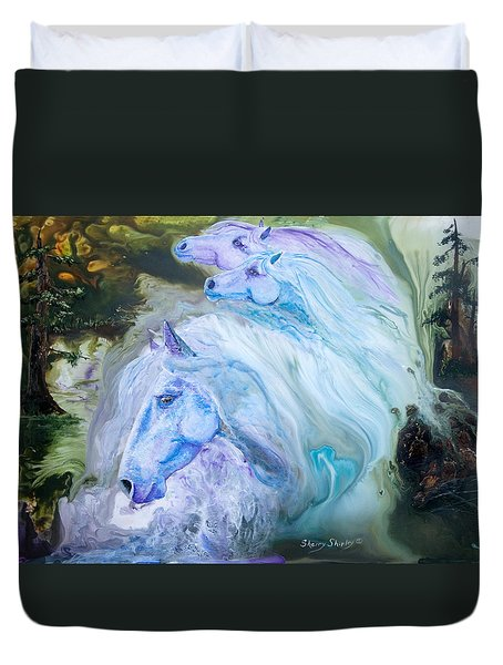 Enchanted Waters Duvet Cover by Sherry Shipley