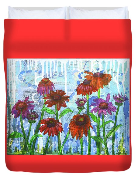 Enchanting Echinacea Duvet Cover