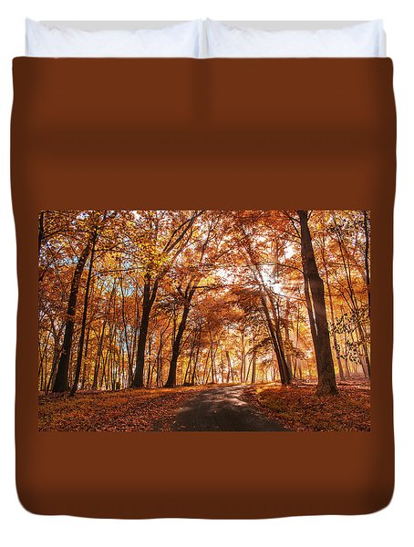 Enchanting Fall Duvet Cover by Rima Biswas