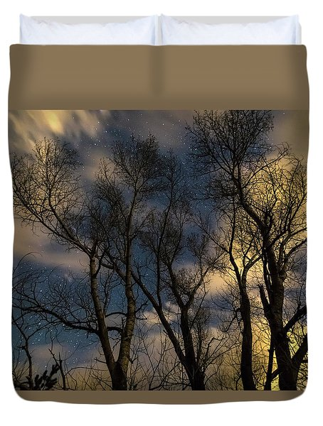 Duvet Cover featuring the photograph Enchanting Night by James BO Insogna