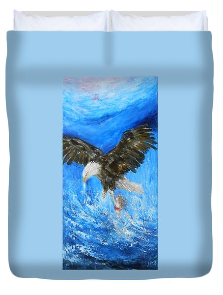 Duvet Cover featuring the painting Enchantment by Jane See