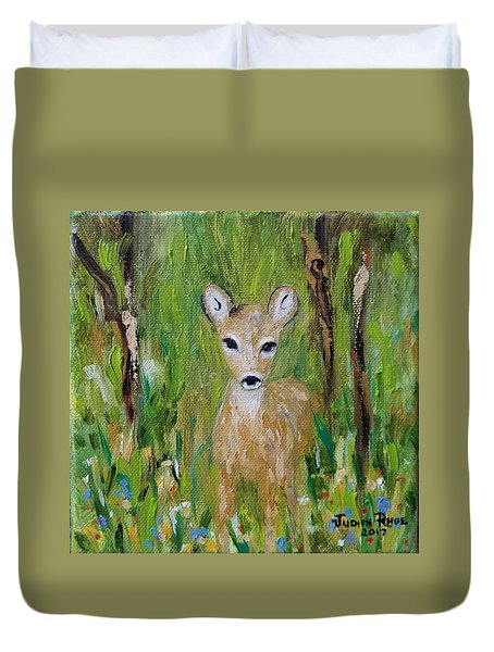 Duvet Cover featuring the painting Enchantment by Judith Rhue