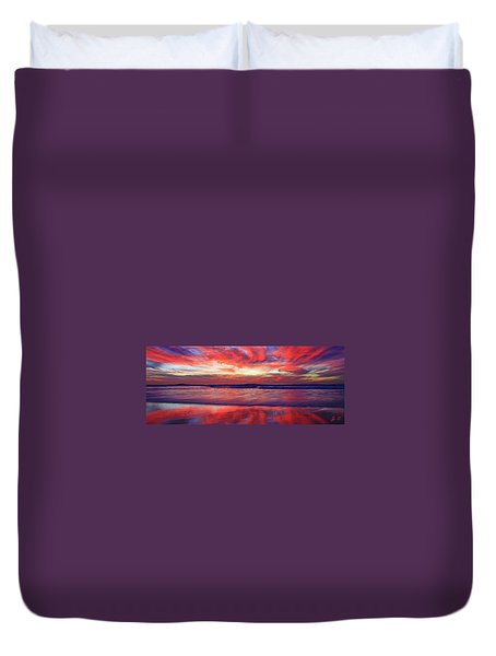 Duvet Cover featuring the photograph Encinitas Energy Afterglow by John F Tsumas