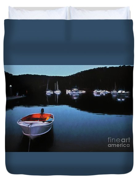End Of A Beautiful Day Duvet Cover by Kaye Menner