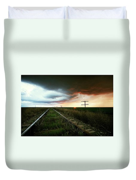 End Of A Stormy Day Duvet Cover