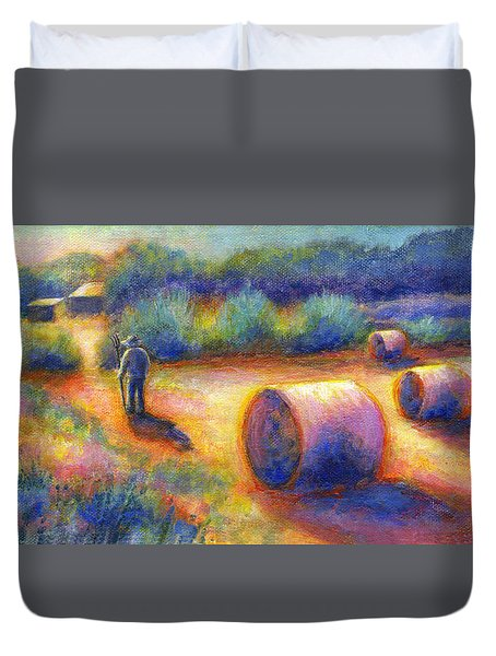 End Of A Well Spent Day Duvet Cover by Retta Stephenson