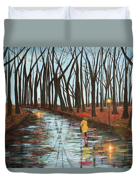 End Of Autumn Duvet Cover