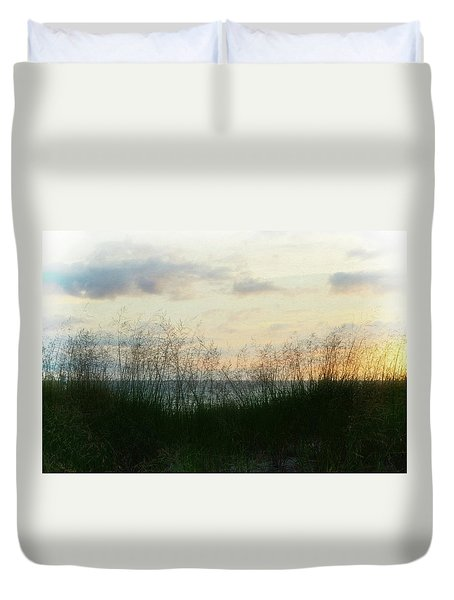 Duvet Cover featuring the photograph End Of Day At Pentwater by Michelle Calkins