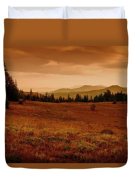 Duvet Cover featuring the photograph End Of Day by Frank Wilson