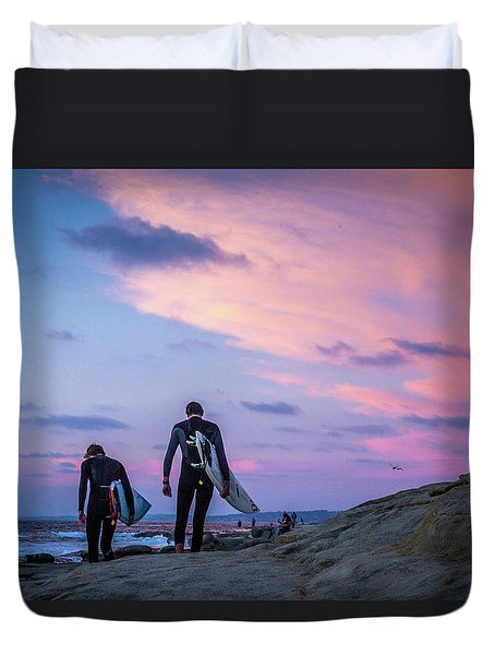 End Of Day Duvet Cover by Peter Tellone