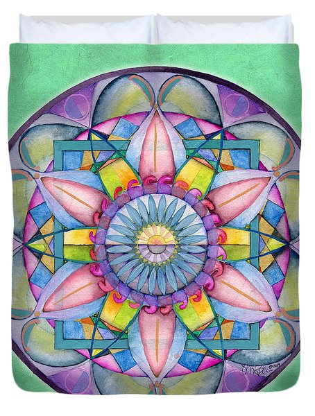 End Of Sorrow Mandala Duvet Cover