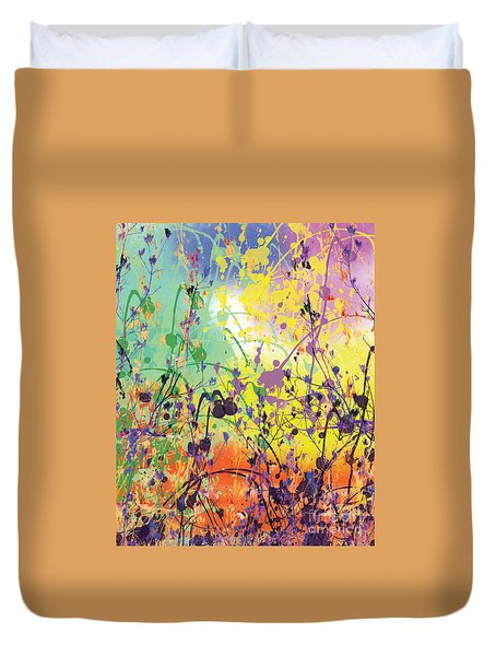 Duvet Cover featuring the digital art End Of Summer 2015 by Trilby Cole