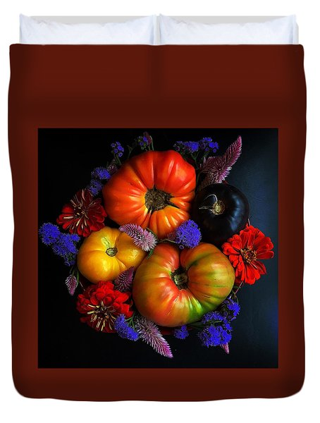 End Of Summer Colors Duvet Cover