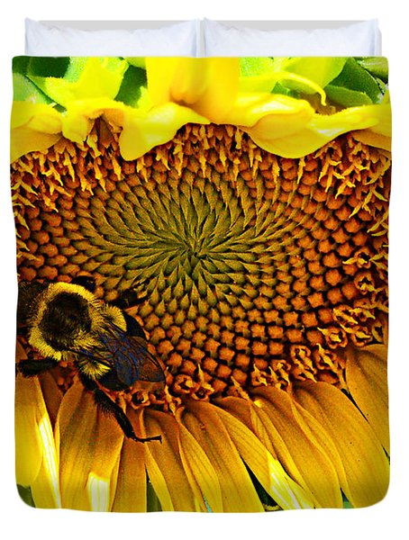 Duvet Cover featuring the photograph End Of Summer by Kathy Kelly