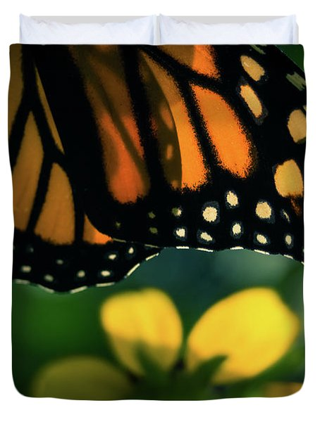 End Of Summer Monarch Duvet Cover