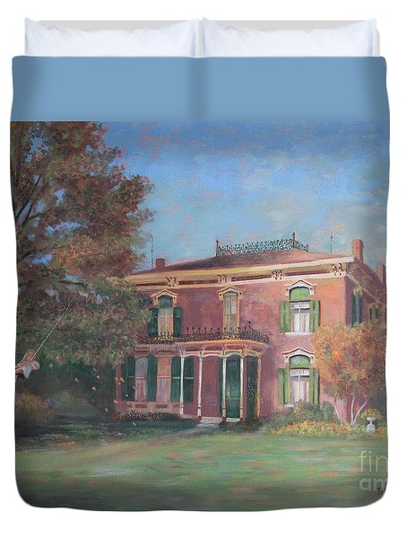 Duvet Cover featuring the painting End Of Summer by Nancy Lee Moran