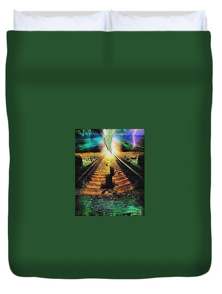 End Of The Cliff Duvet Cover