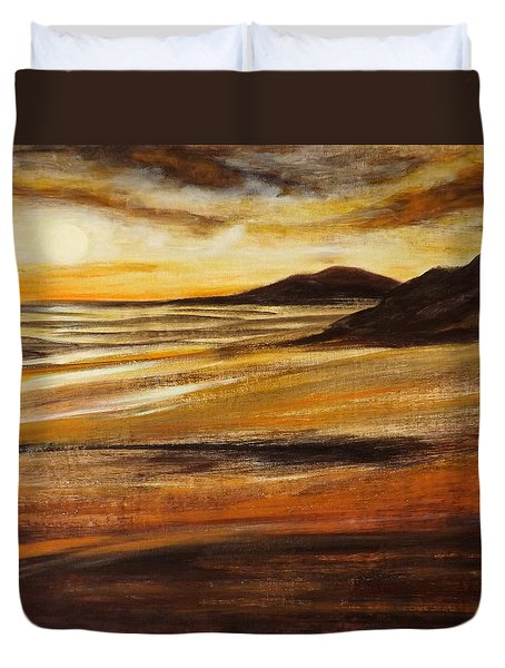 End Of The Day - Panoramic Sunset Duvet Cover