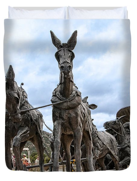 End Of The Long Trail Duvet Cover