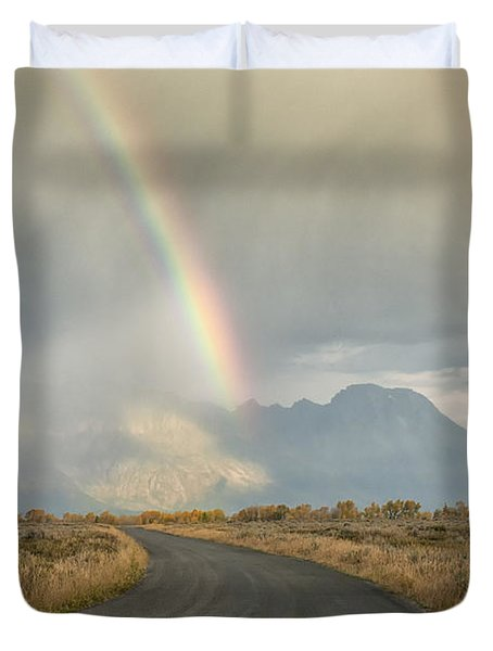 End Of The Rainbow Duvet Cover by Sandra Bronstein