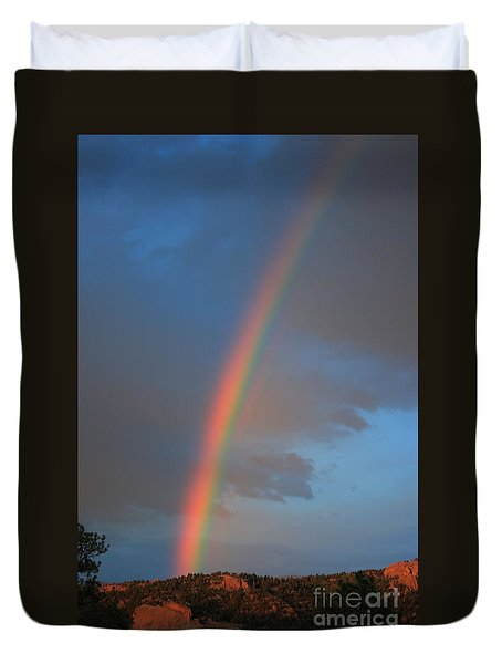 End Of The Rainbow Duvet Cover