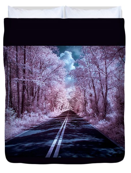 Duvet Cover featuring the photograph End Of The Road by Louis Ferreira