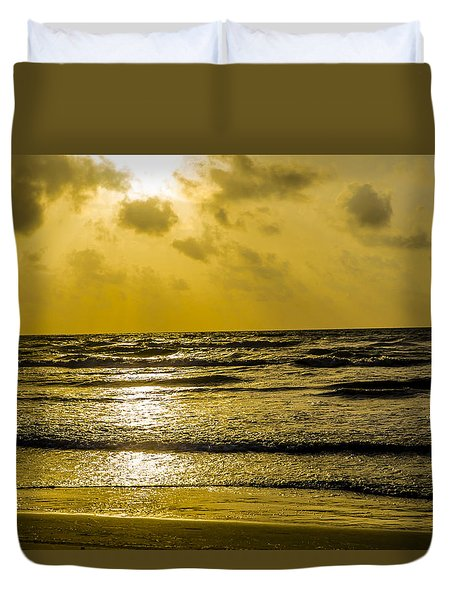 End Of The Season Padre 85 Duvet Cover