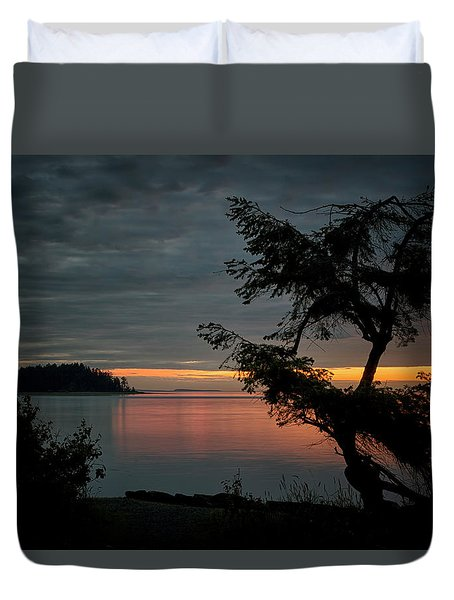 End Of The Trail Duvet Cover by Randy Hall