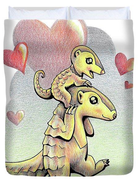 Endangered Animal Pangolin Duvet Cover