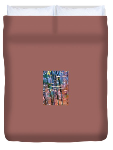 Duvet Cover featuring the photograph Enders Reflection by Tom Cameron