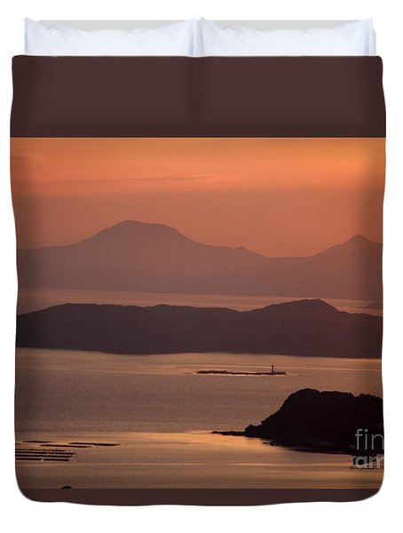Duvet Cover featuring the photograph Ending Of The Day 5 by Yumi Johnson
