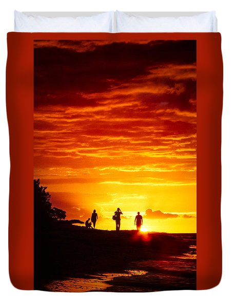 Duvet Cover featuring the photograph Endless Fiju by T Brian Jones