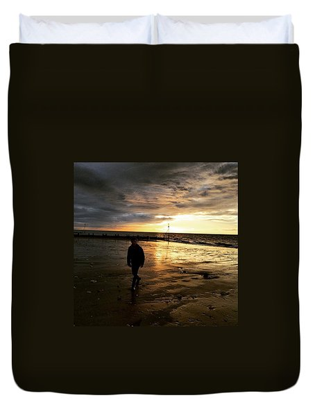 #endless Sky #sunset #norfolk #north Duvet Cover