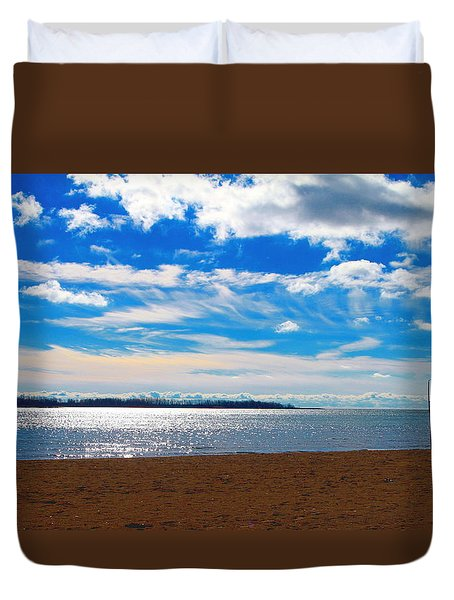 Duvet Cover featuring the photograph Endless Sky by Valentino Visentini