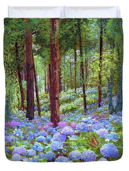 Endless Summer Blue Hydrangeas Duvet Cover