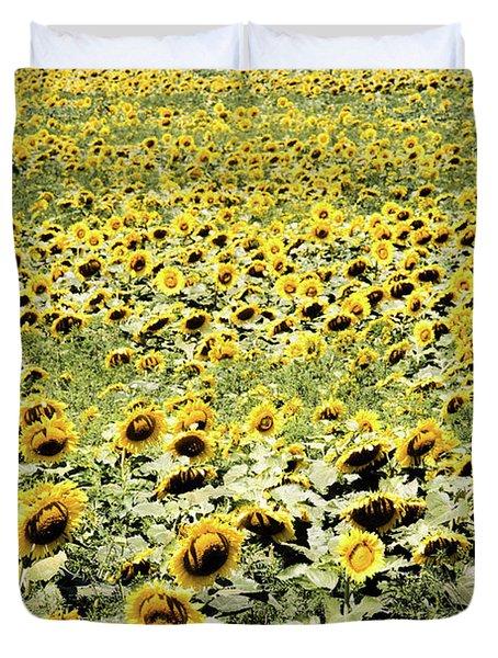 Endless Sunflowers Duvet Cover
