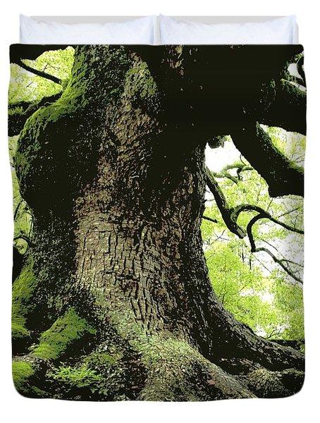 Endurance In Japan - Digital Art Duvet Cover by Carol Groenen