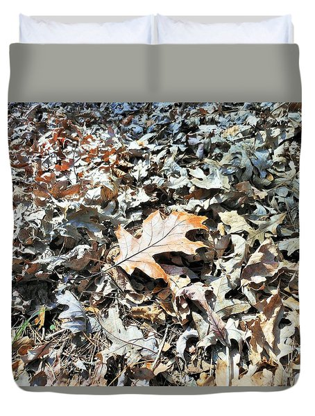 Endurance Of A Leaf Duvet Cover by Kay Gilley