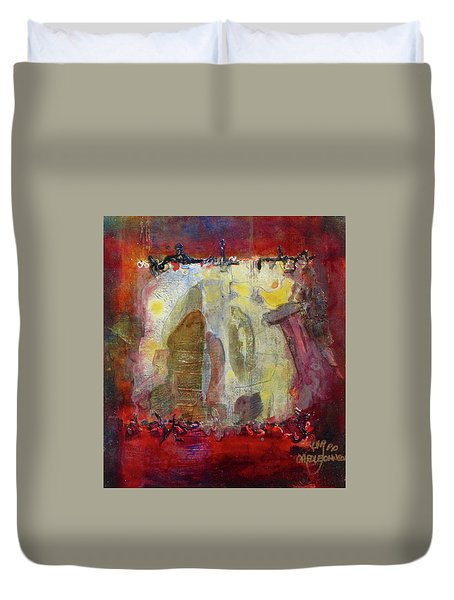 Energies And The Yellow Bird Duvet Cover